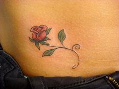 Delicate rose tattoo