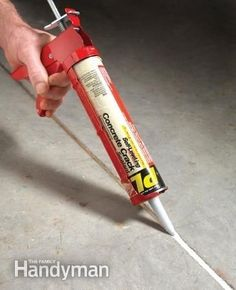 Use concrete crack filler to keep unwanted weeds from sprouting up... Genius!
