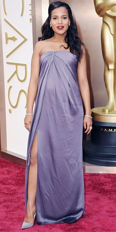 Oscars 2014 Red Carpet Arrivals - Kerry Washington may be the most beautiful Mother-to-be ever!  #KerryWashington #Oscars2014 #RedCarpet #CelebrityStyle via #InStyle