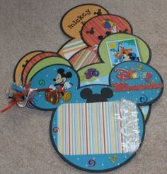 I should do this for our Disney vacation!    Paper Crafts by Candace: Mickey/Disney Mini Scrapbook
