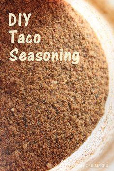 DIY Taco Seasoning Recipe -- Titus 2 Homemaker #t2hmkr
