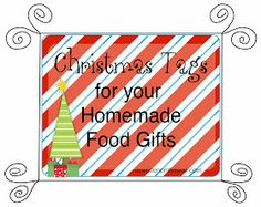 It's Written on the Wall: Christmas Neighbor Gifts-Tags for Homemade or Store Bought Treats/Food--Made with Love from our Kitchen to Yours-Ding Dongs & Ho Ho's too