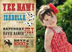 Western Themed Birthday Invitation by LilBellaBoutique on Etsy, $18.00