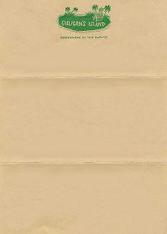 1964 - 67 promotional letterhead for Gilligan's                          Island