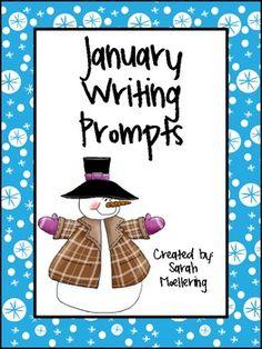 January Writing Prompts (Freebie!)
