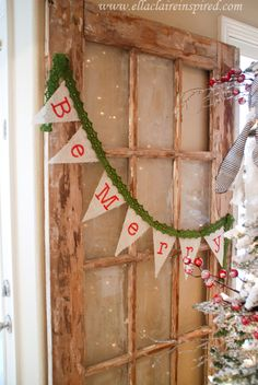 Peace, Hope, and a Gorgeous Burlap Banner with Ella Claire #ChristmasDecorations