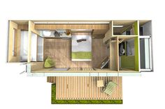 Tiny Glass-Walled Container House Functions Rooftop Deck | IKEA Decoration