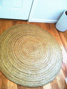 As simple as this round jute rug from HomeGoods is, it makes a huge impact welcoming you into the entry way (and catching those fall leaves we have here in Oregon).