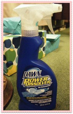 Use Dawn Power Dissolver to get grease stains out of clothing. Even works on set-in stains.