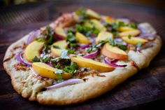 Peach Pizza Pie