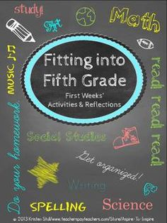 Fitting into Fifth Grade: First Weeks' Activities and Reflections