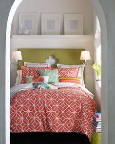 Coral Trellis Full/Queen Comforter Set