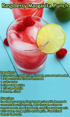"""Raspberry Margarita Punch 