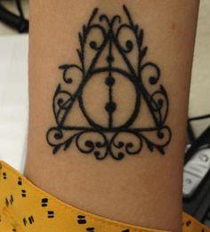 tattoo idea, harri potter, pierc, tattoos, death hallow, harry potter, thing, ink, hallow tattoo