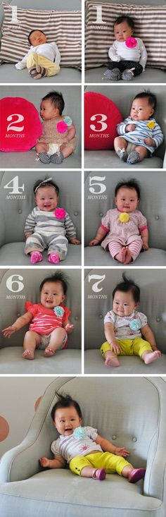 baby photos every month.