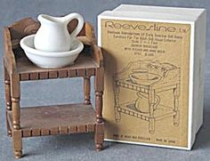Vintage Dollhouse Wooden  Washstand Pitcher & Basin