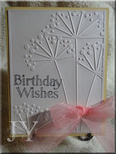 CAS card....love this embossing folder