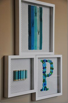 Great craft idea for a shadow box and to hang in your sewing room!
