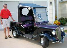 Custom built golf cart