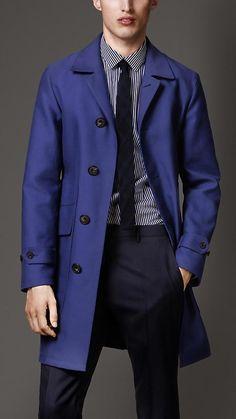Burberry London S/S14 Rainwear Cotton Car Coat