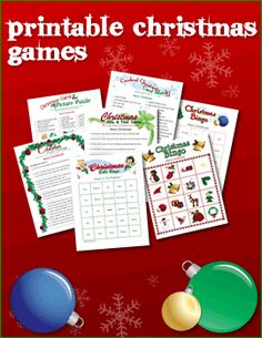 Christmas printable games, cards and all the rest