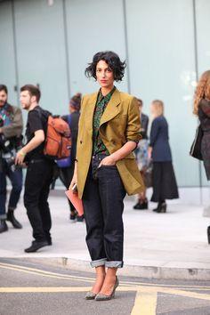 Gah. Dead.  Yasmin Sewell -- Street Style Spring 2013 - London Fashion Week Street Style - Harper's BAZAAR