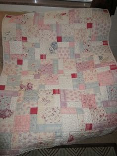 Disappearing Nine Patch Quilt made with 2 Charm Packs. I have the perfect charm packs