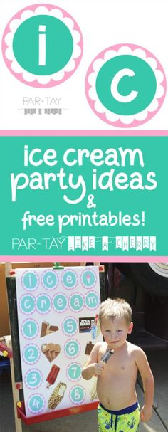 ice cream party idea