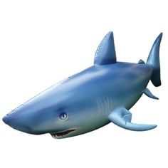 A 7-feet long LifeLike Inflatable Shark that will be the centerpiece of your shark party decorations! $85