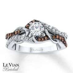 chocolate diamonds | Kay - LeVian Chocolate Diamonds 3/4 ct tw Engagement Ring 14K Gold  My dream ring!!