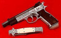 Engraving by Billy Bates--Gun Engraving Photos