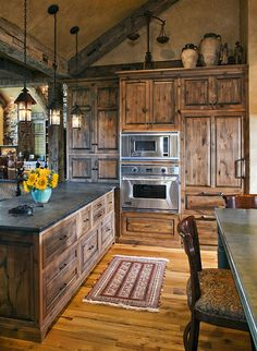 Lodge Rustic Kitchen.