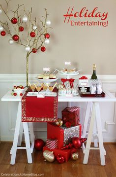 Holiday entertaining with Pier 1 Tasting Party and decor