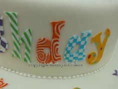 How to make patterned fondant. neat!