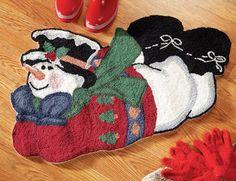 Snowman Accent Rug