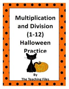 """FREE MATH LESSON - Multiplication and Division Halloween Practice""""  - Go to The Best of Teacher Entrepreneurs for this and hundreds of free lessons.  4th - 6th Grade   #FreeLesson  #Math  http://www.thebestofteacherentrepreneurs.net/2014/09/free-math-lesson-multiplication-and.html"""
