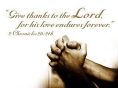 Give thanks always!