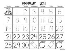 Calendars for Number Writing 2014-2015 - get monthly number writing practice into your classroom routine with these easy to prep printable calendars. Differentiated to meet the needs of all your learners and includes LOTS of ideas and resources for seasonal art projects! $  Early bird special: 30% off during the month of July!