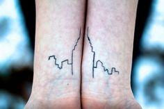 New York skyline tattoo