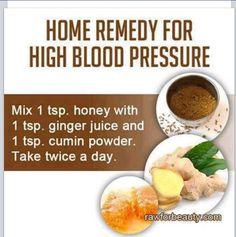 Blood pressure remedy...