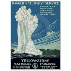 favorit place, yellowston nation, nation park, national parks, wpa poster, posters