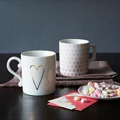 Heart Mugs #WestElm