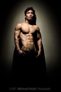 male fitness model - lighting