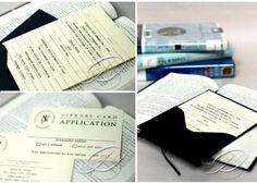 library card invitations