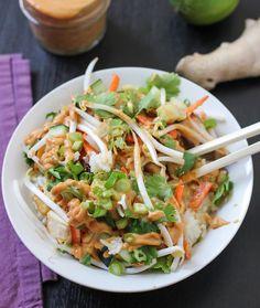 Thai Curry Burrito Bowl with Sweet and Spicy Tofu - Luminous Vegans