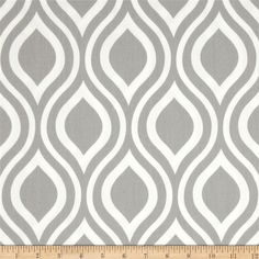 "Is this not PERFECT for my dining room shades?!  It is part of the Premier Prints ""storm"" color series so it matches the accent fabric (the chevron grey+turquoise one) from the listening room exactly.  I will place an order today.  Fabric.com does free shipping on orders over some amount - so if there's any fabrics you want, let me know and you can grab it when you come visit! :)"