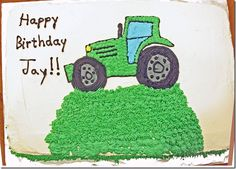 Tractor Birthday Cak