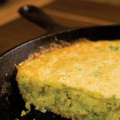 Broccoli Cheese Cornbread #castiron #broccoli