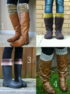 Boot cuffs! So cool #boots #style #fashion