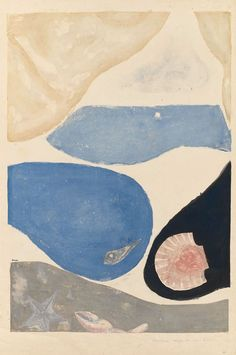 Koshiro Onchi - Poem No. 6: Image de la Mer, 1948, woodblock print